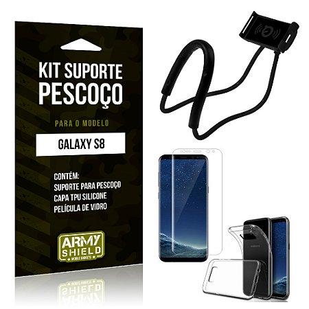 Kit Suporte Pescoço Samsung S8 Suporte + Capa + Película - Armyshield