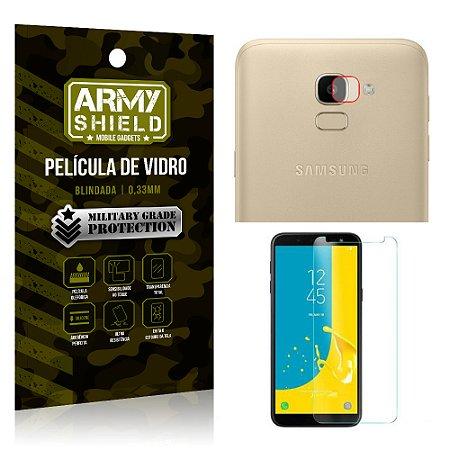 Kit Película de Lente Câmera Anti Risco + Película de Vidro Samsung Galaxy J6 - Armyshield