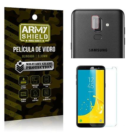 Kit Película de Lente Câmera Anti Risco + Película de Vidro Samsung Galaxy J8 - Armyshield