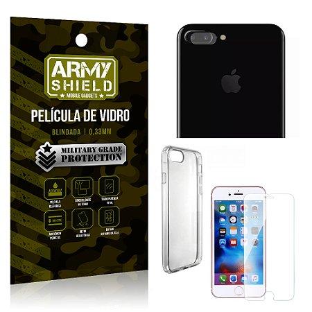 Kit Película de Lente Câmera + Película de Vidro + Capa Silicone Apple Iphone 7 Plus - Armyshield