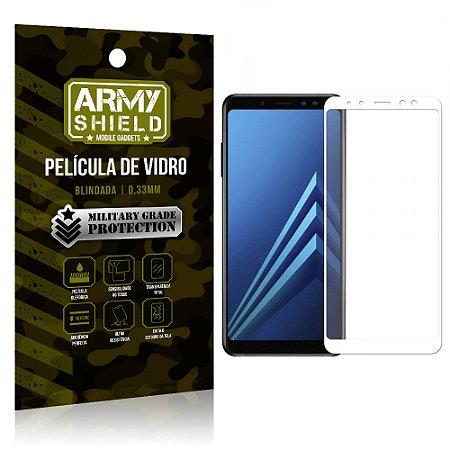 Película de Vidro Cobre a Tela Toda Samsung Galaxy A8 Premium - Branco - Armyshield