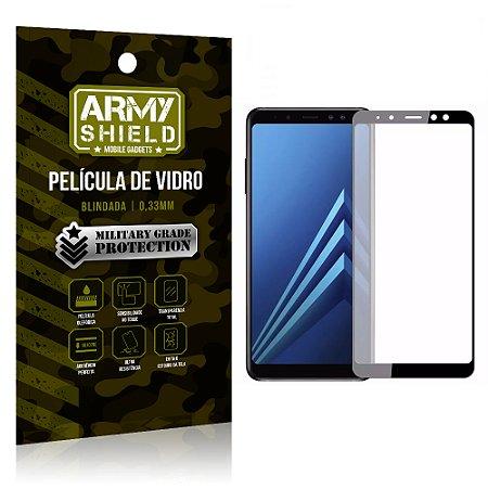 Película de Vidro Cobre a Tela Toda Samsung Galaxy A8 Plus Premium - Preto - Armyshield