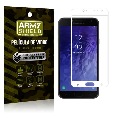 Película de Vidro Cobre a Tela Toda Samsung Galaxy J4 Premium - Branco - Armyshield