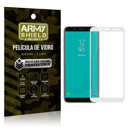 Película de Vidro Cobre a Tela Toda Samsung Galaxy J6 Premium - Branco - Armyshield