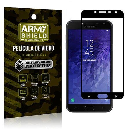 Película de Vidro Cobre a Tela Toda Samsung Galaxy J4 Premium - Preto - Armyshield