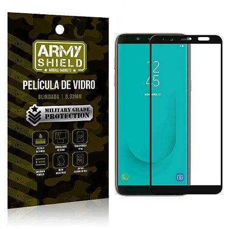 Película de Vidro Cobre a Tela Toda Samsung Galaxy J6 Premium - Preto - Armyshield