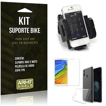 Kit Suporte Moto Bike Xiaomi Mi A2  Suporte + Película + Capa - Armyshield