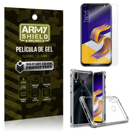 Kit Capa Anti Shock + Película Gel Zenfone 5 ZE620KL - Armyshield