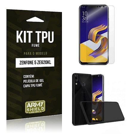 Kit Capa Fumê Zenfone 5 ZE620KL  Película + Capa Fumê - Armyshield