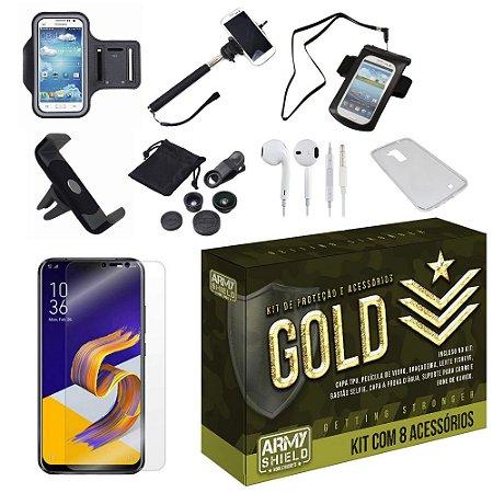 Kit Gold Zenfone 5 ZE620KL  com 8 Acessórios - Armyshield