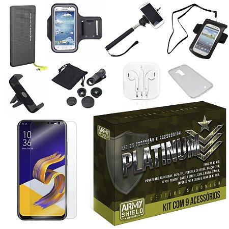 Kit Platinum Tipo C Zenfone 5 ZE620KL  com 9 Acessórios - Armyshield