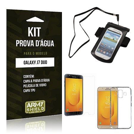 Kit Capa à Prova D'água Samsung Galaxy J7 Duo  Prova Dágua + Película + Capa - Armyshield