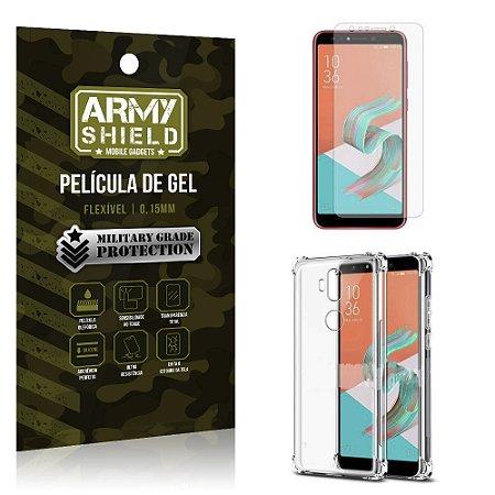 Kit Capa Anti Shock + Película Gel Zenfone 5 Selfie - Selfie Pro ZC600KL - Armyshield