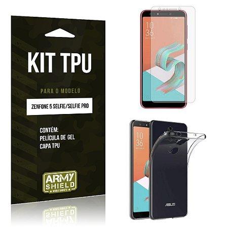 Kit Capa Silicone Zenfone 5 Selfie - Selfie Pro ZC600KL  Película + Capa - Armyshield