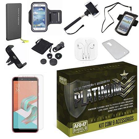 Kit Platinum Zenfone 5 Selfie - Selfie Pro ZC600KL  com 9 Acessórios - Armyshield