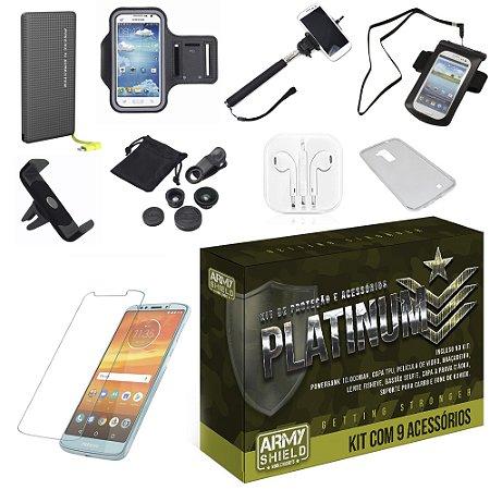 Kit Platinum Motorola Moto E5 Plus  com 9 Acessórios - Armyshield