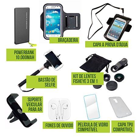 Kit Platinum Apple iPhone XR 6.1 com 9 Acessórios - Armyshield