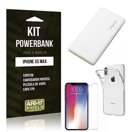 Kit Powerbank Apple iPhone XS Max 6.5 Powerbank + Película + Capa - Armyshield