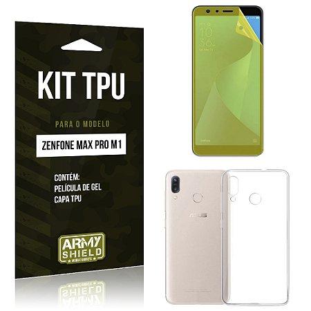 Kit Capa Silicone Zenfone Max Pro M1 ZB602KL Película + Capa - Armyshield
