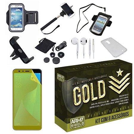 Kit Gold Zenfone Max Pro M1 ZB602KL com 8 Acessórios - Armyshield