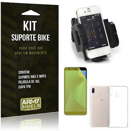 Kit Suporte Moto Bike Zenfone Max Pro M1 ZB602KL Suporte + Película + Capa - Armyshield