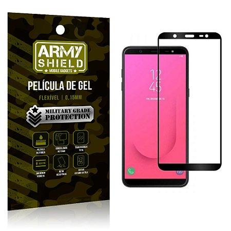 Película de Gel Cobre a Tela Toda Samsung Galaxy J8 Preta - Armyshield