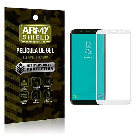 Película de Gel Cobre a Tela Toda Samsung Galaxy J8 Branca - Armyshield