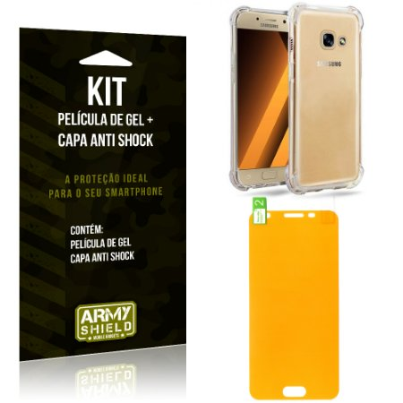 Kit Galaxy J5 Prime Capa Anti Shock + Película de Gel - Armyshield