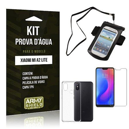Kit Capa à Prova D'água Xiaomi Mi A2 Lite (Redmi 6 Pro) Prova Dágua + Película + Capa - Armyshield