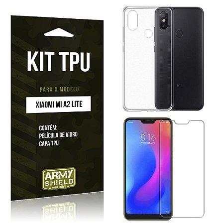 Kit Capa Silicone Xiaomi Mi A2 Lite (Redmi 6 Pro) Película + Capa - Armyshield
