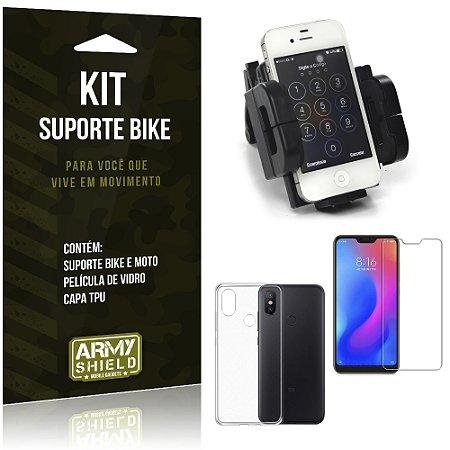Kit Suporte Moto Bike Xiaomi Mi A2 Lite (Redmi 6 Pro) Suporte + Película + Capa - Armyshield