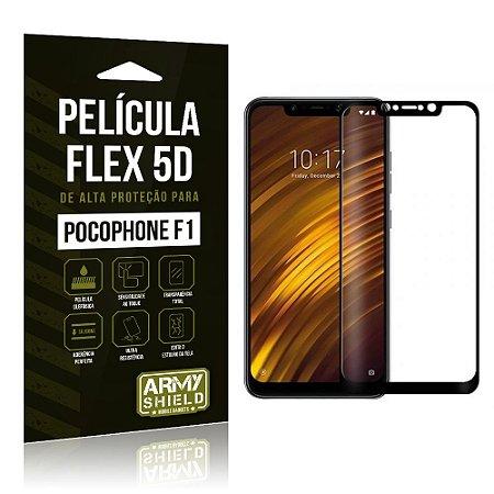 Película de Vidro Flex 5D Pocophone F1 Preta - Armyshield