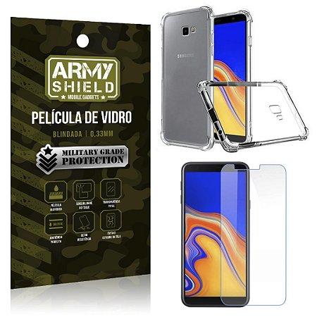 Kit Capa Anti Shock + Película Vidro Galaxy J4 Plus - Armyshield