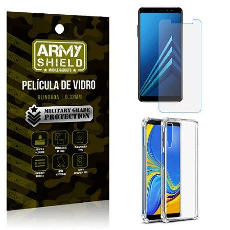 Kit Capa Anti Impacto Samsung Galaxy A7 2018 com Capa + Película de Vidro - Armyshield