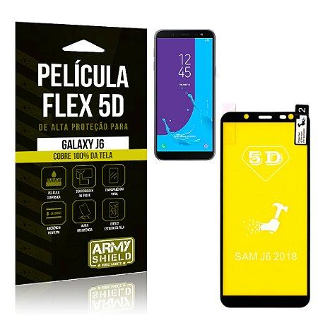 Película Flex 5D Cobre a Tela Toda Samsung Galaxy J6 Preta - Armyshield