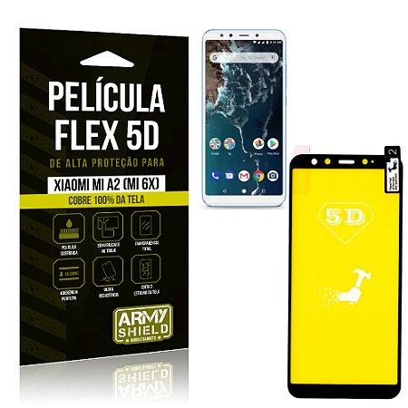 Película Flex 5D Cobre a Tela Toda Xiaomi Mi A2 (Mi 6X) Preta - Armyshield