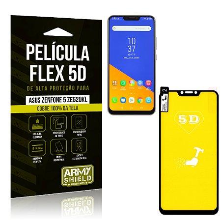 Película Flex 5D Cobre a Tela Toda Asus Zenfone 5 ZE620KL Preta - Armyshield