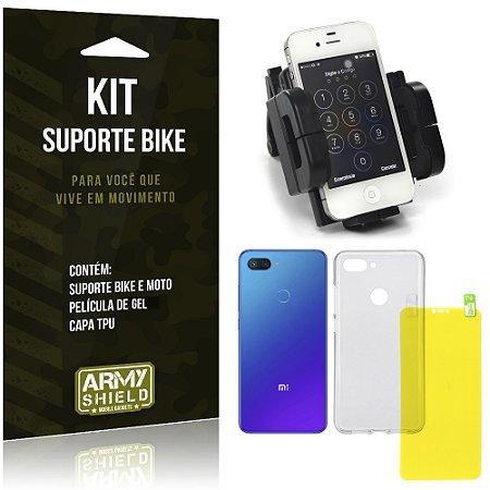 Kit Suporte Moto Bike Xiaomi Mi 8 Lite  Suporte + Película Gel + Capa - Armyshield