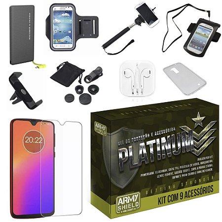 Kit Platinum Tipo C Moto G7 com 9 Acessórios - Armyshield