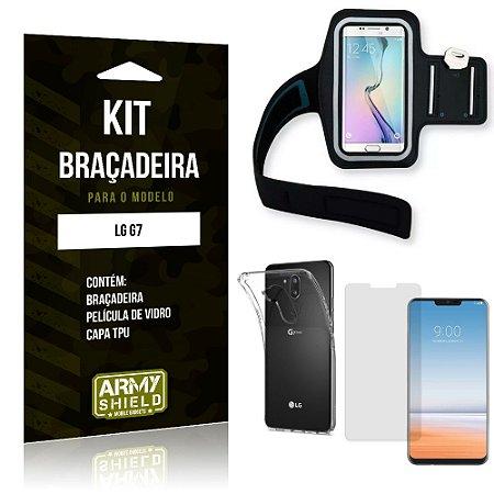 Kit Braçadeira LG  G7 Braçadeira + Capa + Película de Vidro - Armyshield