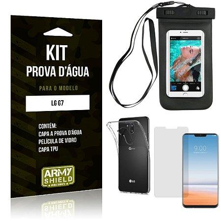 Kit Prova D'água LG  G7 Capa a Prova D'água + Capa + Película de Vidro - Armyshield