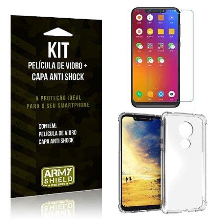 Kit Capa Anti Shock Motorola Moto G7 Play Capa Anti Shock + Película de Vidro - Armyshield