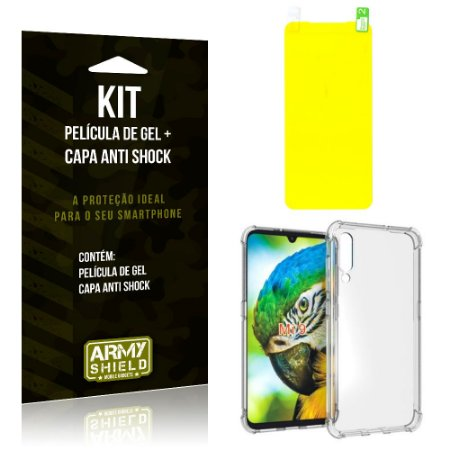 Kit Xiaomi Mi 9 Capa Anti Shock + Película de Gel - Armyshield