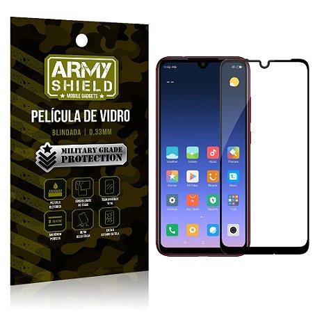 Película de Vidro 3D Cobre a Tela Toda Xiaomi Redmi Note 7/Note 7 Pro Preta - Armyshield