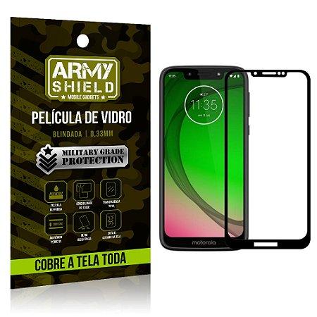 Película de Vidro 3D Cobre a Tela Toda Motorola Moto G7 Play Preta - Armyshield