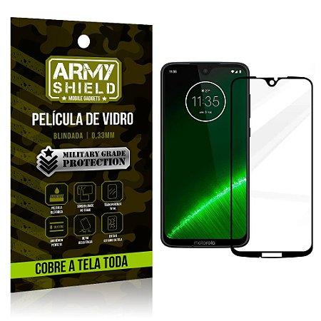 Película de Vidro 3D Cobre a Tela Toda Motorola Moto G7/G7 Plus Preta - Armyshield