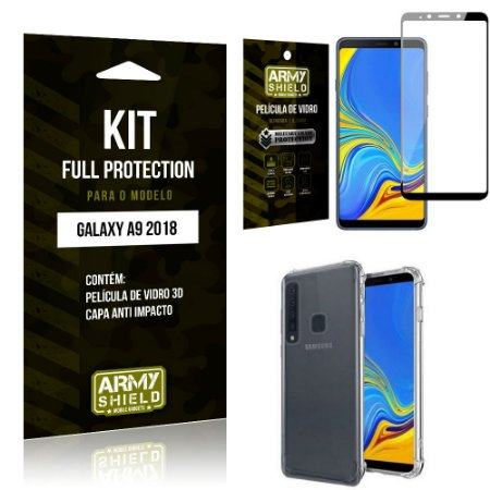 Kit Full Protection Samsung A9 18 Capa Anti Impacto + Película de Vidro 3D - Armyshield