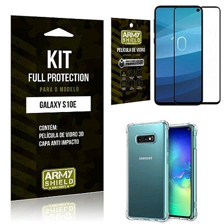 Kit Full Protection Samsung S10e (LITE) Capa Anti Impacto + Película de Vidro 3D - Armyshield