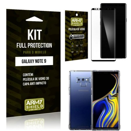 Kit Full Protection Samsung Note 9 Capa Anti Impacto + Película de Vidro 3D - Armyshield