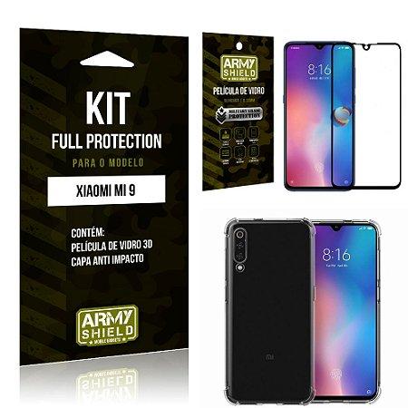 Kit Full Protection Xiaomi MI 9 Capa Anti Impacto + Película de Vidro 3D - Armyshield
